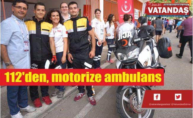 112'den, motorize ambulans