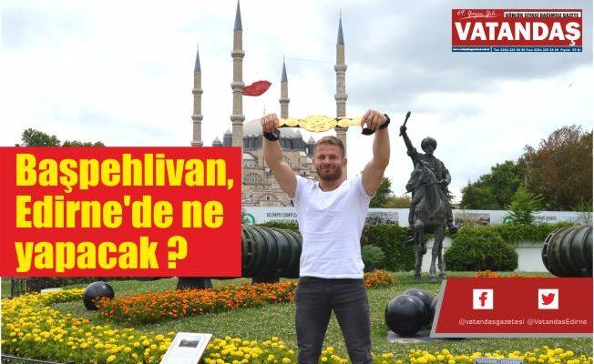 Başpehlivan, Edirne'de ne yapacak ?