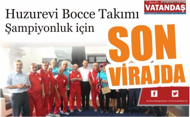 Huzurevi Bocce Takımı  Şampiyonluk için SON  VİRAJDA