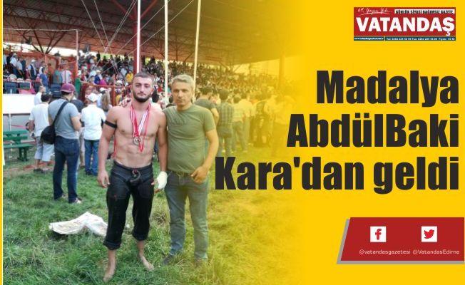Madalya AbdülBaki  Kara'dan geldi