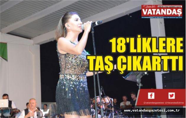 18'LİKLERE TAŞ ÇIKARTTI