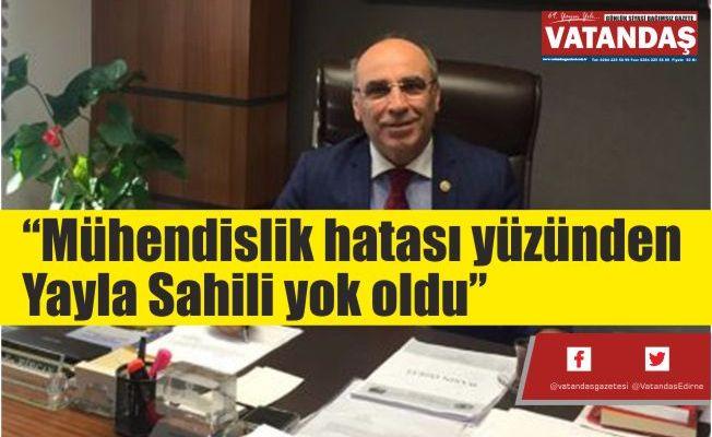 """""""Mühendislik hatası  yüzünden Yayla  Sahili yok oldu"""""""