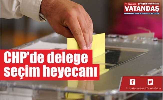 CHP'de delege seçim heyecanı