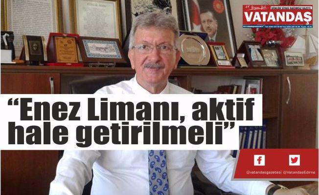 """""""Enez Limanı, aktif  hale getirilmeli"""""""