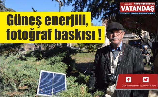 Güneş enerjili, fotoğraf baskısı !