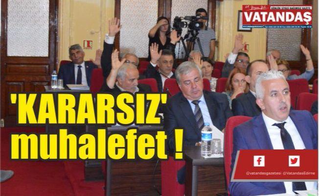 'KARARSIZ' muhalefet !