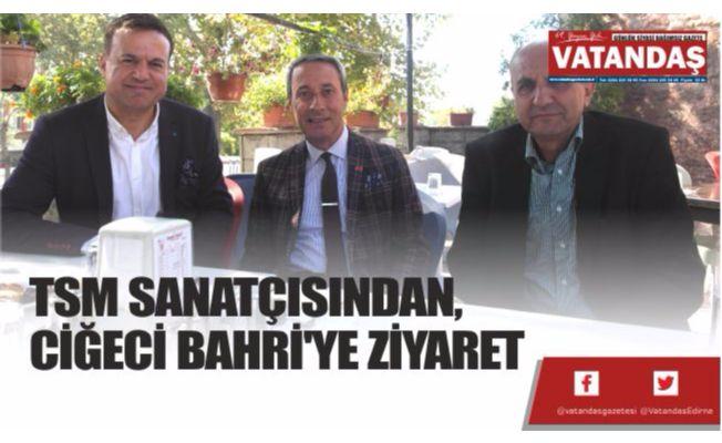 TSM SANATÇISINDAN,  CİĞECİ BAHRİ'YE ZİYARET