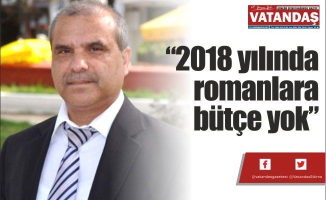 """""""2018 yılında  romanlara  bütçe yok"""""""