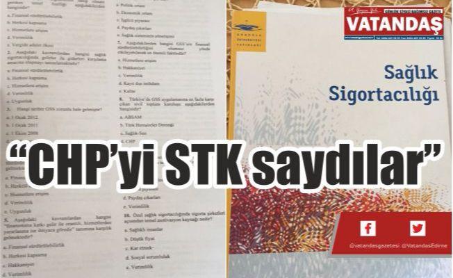 """CHP'yi STK saydılar"""