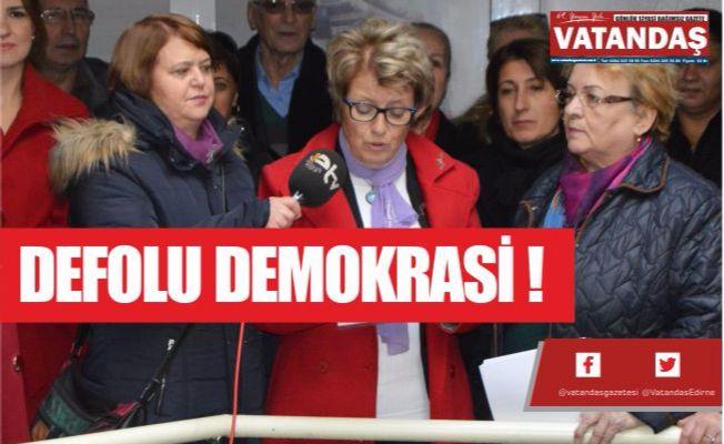 DEFOLU DEMOKRASİ !