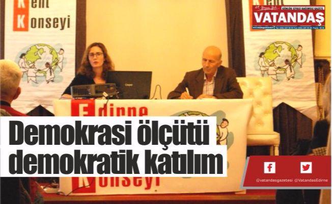 Demokrasi ölçütü  demokratik katılım
