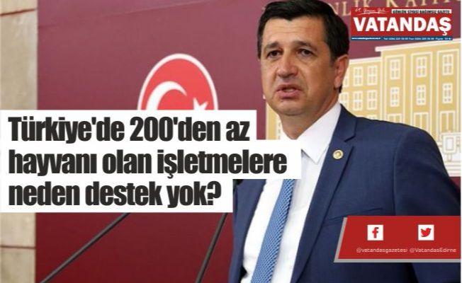 Türkiye'de 200'den az  hayvanı olan işletmelere  neden destek yok?