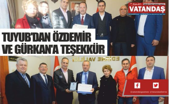 TUYUB'DAN ÖZDEMİR  VE GÜRKAN'A TEŞEKKÜR