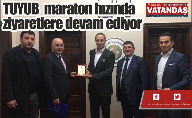 TUYUB  maraton hızında  ziyaretlere devam ediyor
