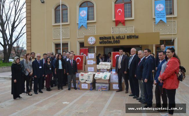 Edirne'den Afrin'e Örnek Destek