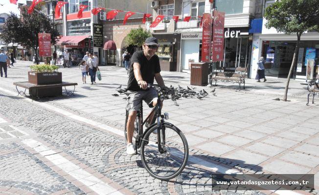 MOTOSİKLETE ALTERNATİF  AKÜLÜ BİSİKLET!
