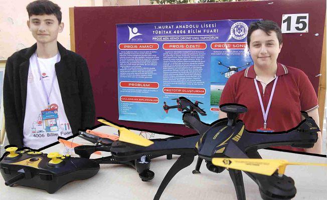 KENDİ DRONE'LARINI KENDİLERİ YAPTILAR