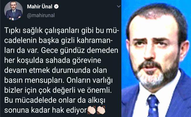 GENEL BAŞKAN YARDIMCISINDAN  GAZETECİLERE ALKIŞ!
