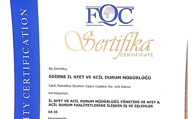 AFAD EDİRNE, TÜRKİYE'DE BİR İLKE İMZA ATTI