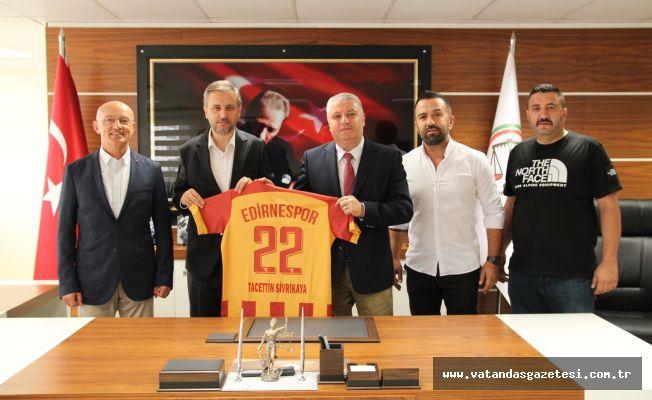 Edirnespor yönetimi ziyaretlerine devam ediyor