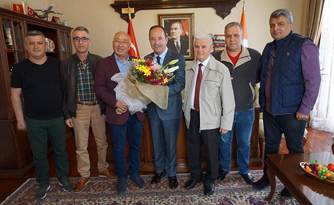 Tava Ciğer Ustaları'ndan Başkan Gürkan'a ziyaret