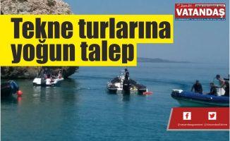 Tekne turlarına  yoğun talep