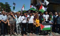 ESKİ CAMİ'DE MESCİD-İ AKSA PROTESTOSU