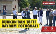 GÜRKAN'DAN 'ÇİFTE BAYRAM' FOTOĞRAFI