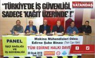 """""""TÜRKİYE'DE İŞ GÜVENLİĞİ, SADECE 'KAĞIT ÜZERİNDE' !"""""""