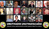 Edirne ve ilçelerde hayatlarını kaybeden gazeteciler için kitap basılacak