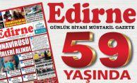 Edirne Gazetesi 59 yaşında